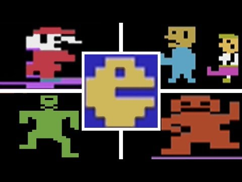 Classic Atari 2600 Video Game Deaths & Game Over Screens