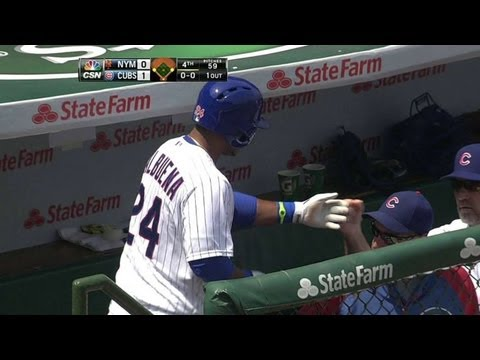Video: NYM@CHC: Valbuena lifts a sacrifice fly to right