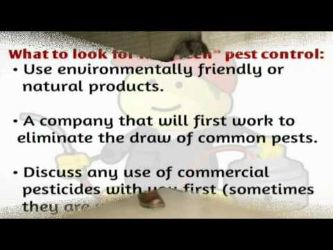 Environmentally Safe Pest Control is Available - Columbia Pest Control Inc