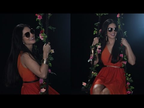 UNCUT : Sunny Leone At Shoot Of Larra Sunglasses