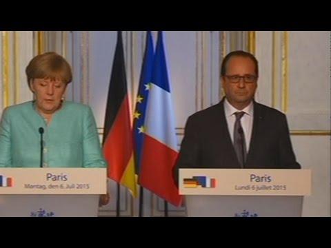Ο Φ Ολάντ και η Α. Μέρκελ για το δημοψήφισμα και τις διαπραγματεύσεις
