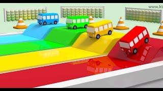 Video Wheels on the bus race with numbers   Best children learning videos   Kiddiestv MP3, 3GP, MP4, WEBM, AVI, FLV Oktober 2018