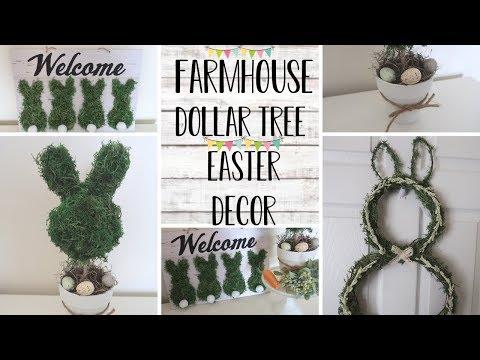 DOLLAR TREE FARMHOUSE DIY  DIY EASTER DECOR  DIY FARMHOUSE EASTER DECOR