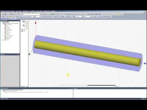 ANSYS Electronics Desktop HFSS基本例題 50Ω同軸線路