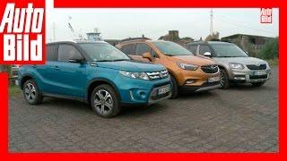 Der neue Mokka X im Vergleich - Opel Mokka X vs Vitara und Yeti (2016) - Review/Test/Vergleich by Auto Bild