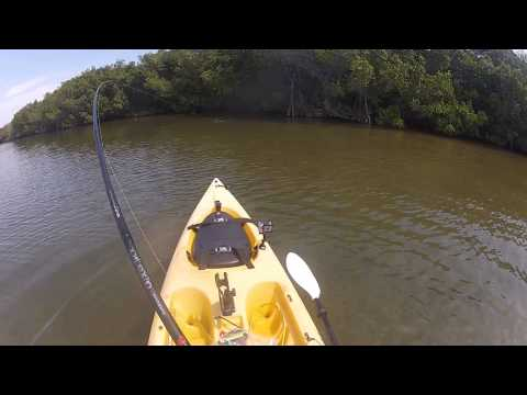 4-25-13 Amazing Day In Kayak Crazy Redfish Bite! Gator Trout! Big Slot Redfish! GoPro