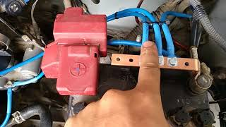 Pemasangan kabel grounding (kabel Masa earth) Di Toyota Etios valco transmisi manual