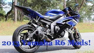 6. 2013 Yamaha R6 | Walk Around | R6 Mods | Two Brothers Exhaust | Canon Rebel T5i