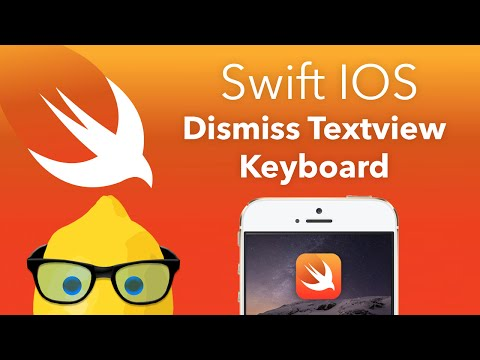 Swift IOS Tutorial Dismiss Textview Keyboard -…