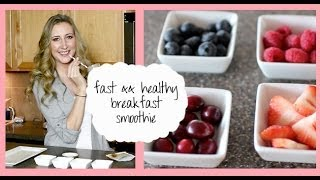 Fast && Healthy Breakfast Recipe: Meal Replacement Smoothie - YouTube