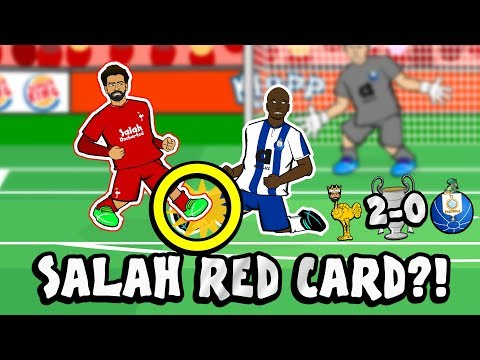 🔴SALAH RED CARD?! CONSPIRACY!🔴 (Liverpool Vs FC Porto 2-0 2019 Parody Champions League Cartoon)