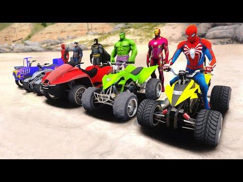 SpiderMan and Street Blazer with SUPERHEROES Parkour Challenge - GTA 5 Mods