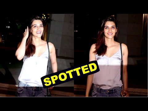 Kriti Sanon Spotted At Oberoi House Bkc