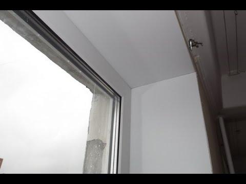 Откосы на пластиковые окна из панелей своими руками видео