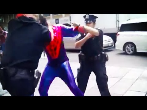 man - A costumed performer dressed as spider-man punched a cop in the face. Buy some awesomeness for yourself! http://www.forhumanpeoples.com/collections/sourcefed Our Sources: http://nydn.us/UGc...