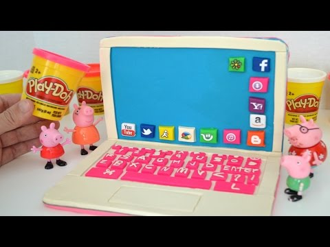 Video Pig George da Familia Peppa Massinha de Modelar Play-doh Fazendo computador!!! Em Portugues download in MP3, 3GP, MP4, WEBM, AVI, FLV January 2017