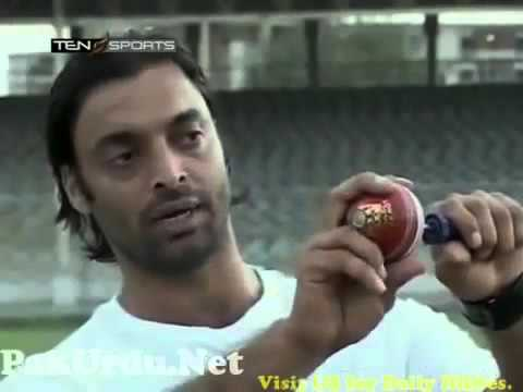 Shoaib akhtar teach bowling technique how to swing the ball in air with pace