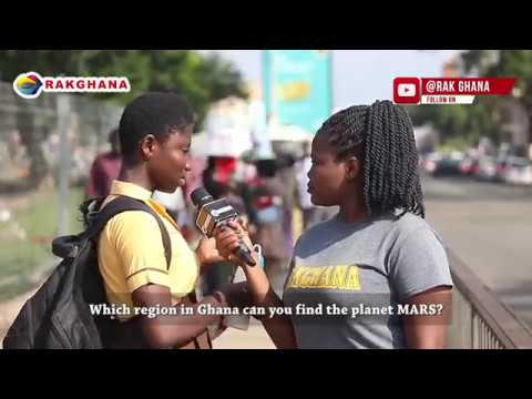WHERE IN GHANA CAN YOU FIND THE PLANET MARS?  rakGhana Street Quiz