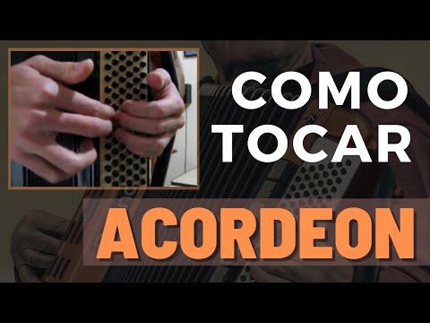 Vídeo Aula de Sanfona (Acordeon): Como Tocar os Baixos