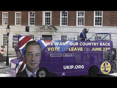 Βρετανία: Περιοδεία Φάρατζ υπέρ του Brexit με το «λεωφορείο της μάχης»