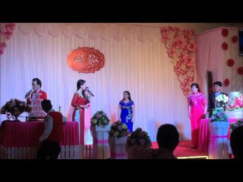 Thi công setup ánh sáng đèn sân khấu nhà hàng tiệc cưới Thu Trang - Bến Tre