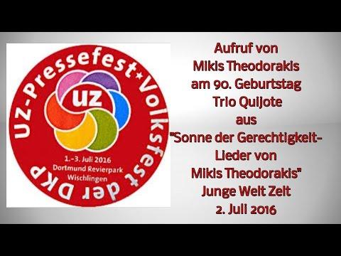 Quijote im Zelt von junge Welt auf dem UZ-Pressefest 2016
