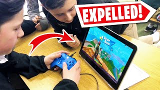 KIDS Caught Playing Fortnite IN SCHOOL! (Expelled..)
