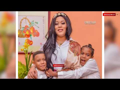 Adunni Ade's Son Tears Down As He Prays For His Mum At Her Birthday Dinner.