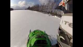 2. Playing in the Drifts Arctic Cat Z370 GoPro Hero 2