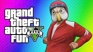 GTA 5 Online Funny Moments - Golf Cart Chase, Motorcycle Stunt Noobs, Miniladd Denied