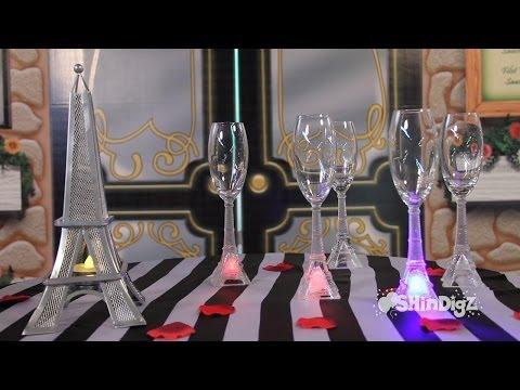 Party Supplies - Glassware - LED Eiffel Tower Flutes - Shindigz.com