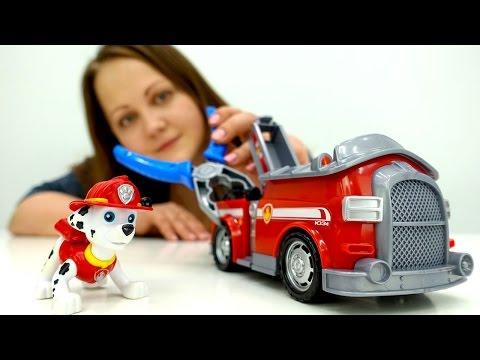 Видео для детей: Щенячий Патруль. Маршал (мультик ЩенячийПатруль) и Пожарная Машина