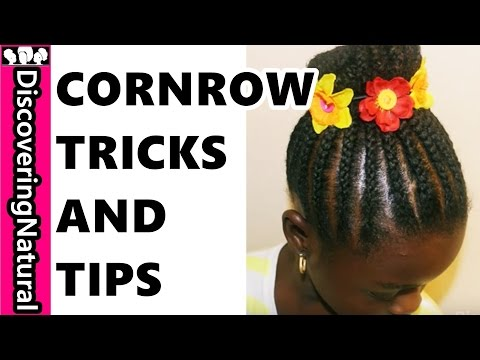 How To Cornrow Like A Pro : #Cornrow Braided #Bun #NaturalHair #Hair