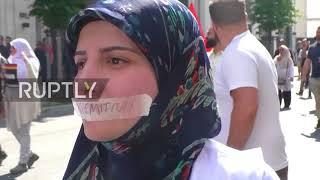 הפגנה גדולה נגד ישראל בברלין