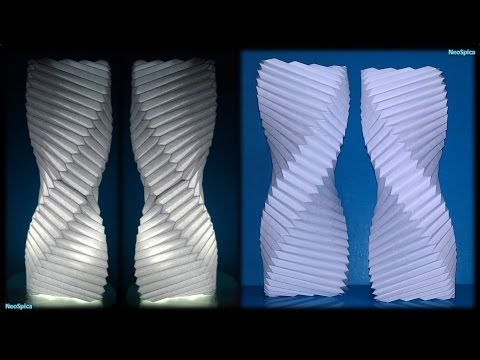 Tutorial 15 - Twisted Column Paper Lamp Fold