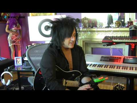 In this video Steve Stevens uses a toy ray gun to play guitar.   Steve Stevens artist page: http://tcelectronic.com/steve-stevens/
