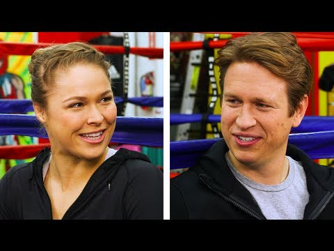Pete Holmes and Ronda Rousey have adorable chemistry.