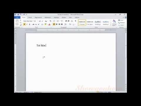 Cách đặt mật khẩu cho tài liệu word/excel (Ms office 2010) - Thời lượng: 53 giây.