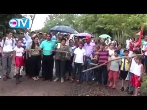Alcaldía de Matagalpa rehabilita camino en la comunidad Ocote, Pueblo Viejo