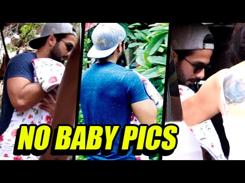 OMG ! Shahid Kapoor Not Interested To Share Baby P