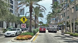 Fort Lauderdale (FL) United States  city photos gallery : Driving Downtown - Las Olas Blvd - Fort Lauderdale Florida USA