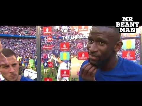 Chelsea 1 0 Manchester United   Eden Hazard & Antonio Rudiger Post Match Interview   FA Cup Final