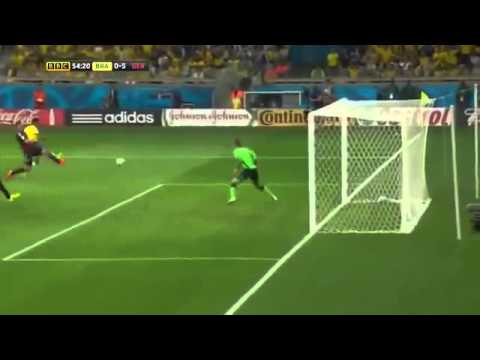 FIFA World Cup 2014 Brazil vs Germany 1-7 Highlights BBC