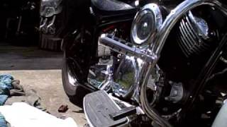 7. Add oil relocation kit to Yamaha V-Star 1100