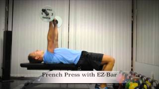 Exercise Index: French Press with EZ-Bar