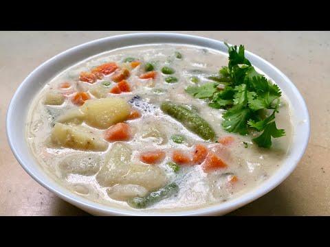 വളരെ എളുപ്പത്തിൽ വെജിറ്റബിൾ കുർമ  /Mixed Vegetable Kurma || white Vegetable kuruma
