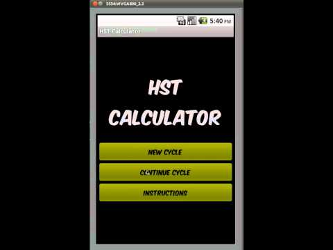 Video of HST calculator