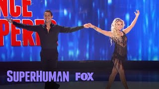 """Jared must identify the type of dance by only hearing the shuffling of their feet.Subscribe now for more Superhuman clips: http://fox.tv/SubscribeFOXWatch more videos from Superhuman: http://fox.tv/SuperhumanSeason1PlaylistSee more of Superhuman on our official site: http://www.fox.com/superhumanLike Superhuman on Facebook: http://fox.tv/SuperHuman_FBFollow Superhuman on Twitter: http://fox.tv/SuperHuman_TWFollow Superhuman on Instagram: http://fox.tv/SuperHuman_IGLike FOX on Facebook: http://fox.tv/FOXTV_FBFollow FOX on Twitter: http://fox.tv/FOXTV_TwitterAdd FOX on Google+: http://fox.tv/FOXPlusGet ready to have your mind blown when SUPERHUMAN returns Monday, June 12 (9:00-10:00 PM ET/PT) on FOX. Hosted by actor Kal Penn, this jaw-dropping one-hour competition series will test the abilities of ordinary people to use their extraordinary skills to win a $50,000 grand prize. In each episode, five contestants who possess a distinct, nearly super-human ability in fields such as memory, hearing, taste, touch, smell, sight and more are challenged to push their skills to the limit, yet only one will take home the title of SUPERHUMAN and the $50,000 grand prize.Jared Takes The """"Dance Whisperer"""" Challenge  Season 1 Ep. 7  SUPERHUMANhttp://www.youtube.com/FoxBroadcasting"""