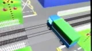 大型車應注意鐵路平交道安全