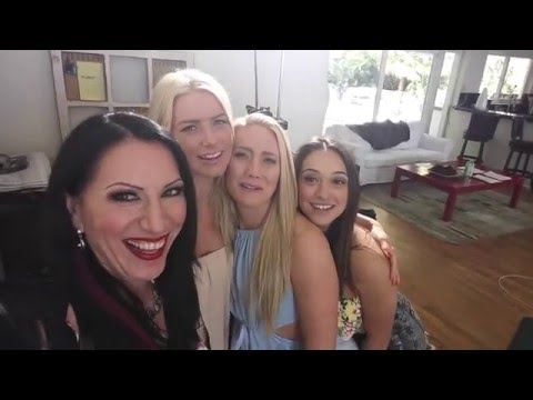 Behind the scenes of Babysitting the Baumgartners with Anikka Albrite, Sarah Luvv and AJ Applegate (видео)